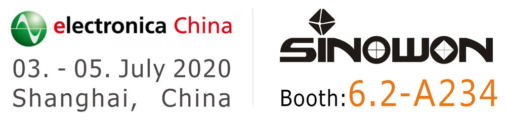 Sinowon is invited to attend the 2020 Munich Shanghai Electronica China Show