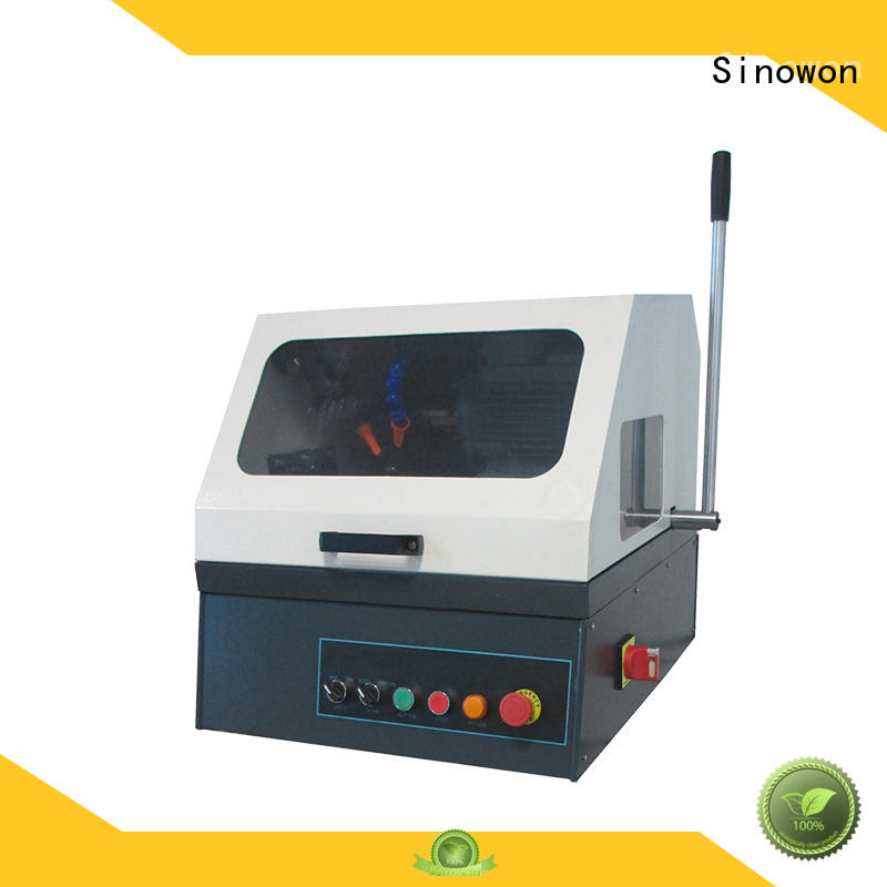 metallographic polishing equipment replaceable fixture corrosion resistance large vision window Sinowon Brand metallurgical equipment