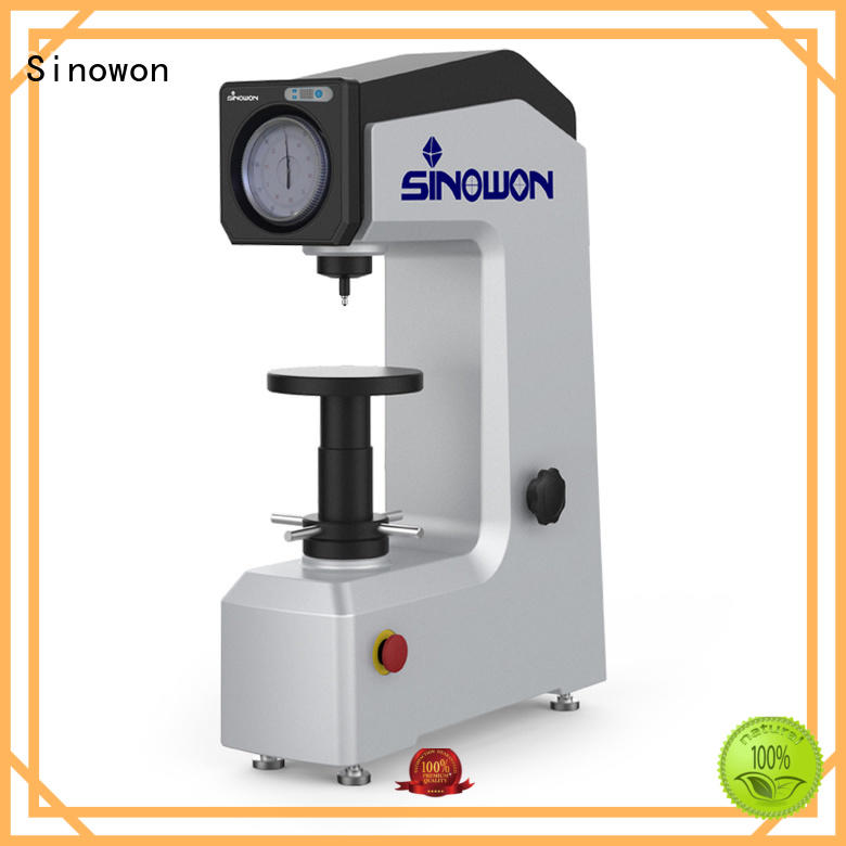 Sinowon durable rockwell hardness test procedure motorized for small parts