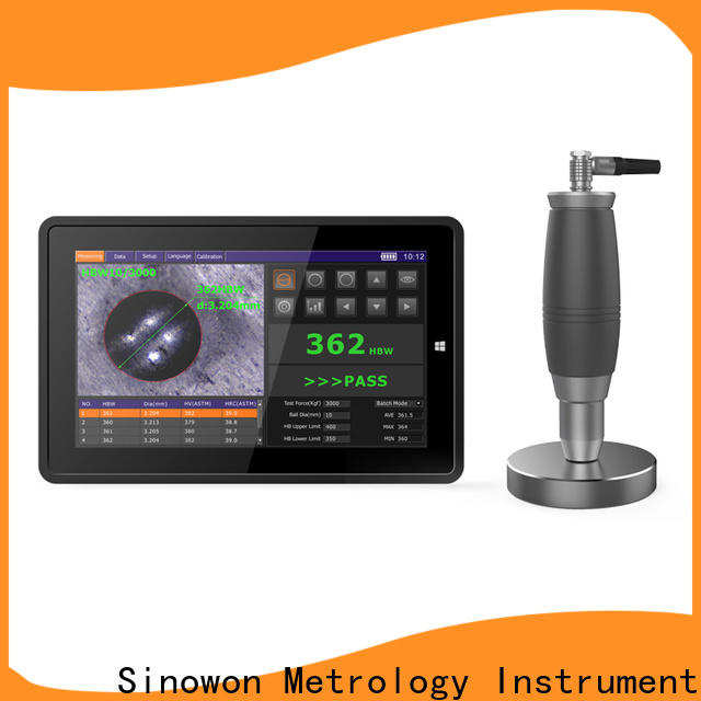 Sinowon brinell hardness tester directly sale for steel products