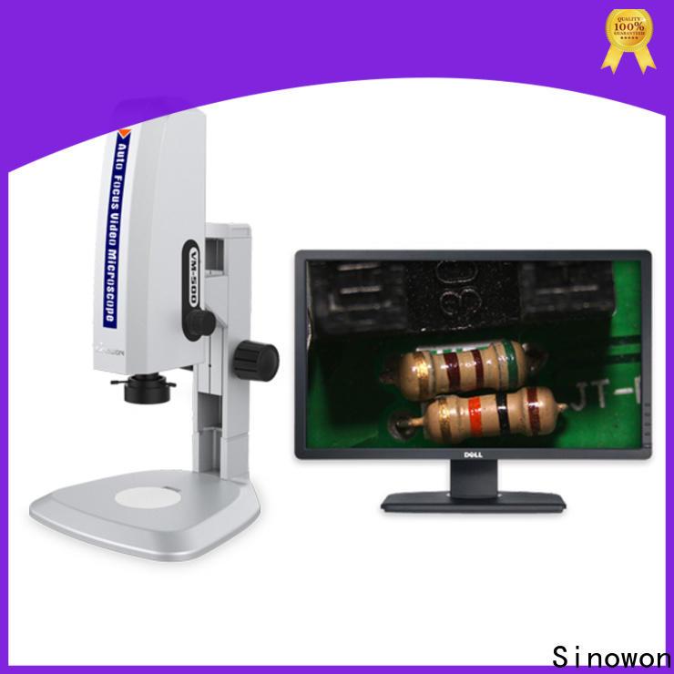 Sinowon autofocus microscope microscope supplier for cast iron